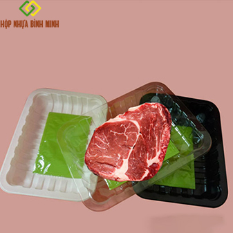 khay nhựa đựng thịt