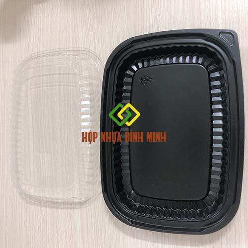 hộp 1 ngăn đựng thức ăn nhanh
