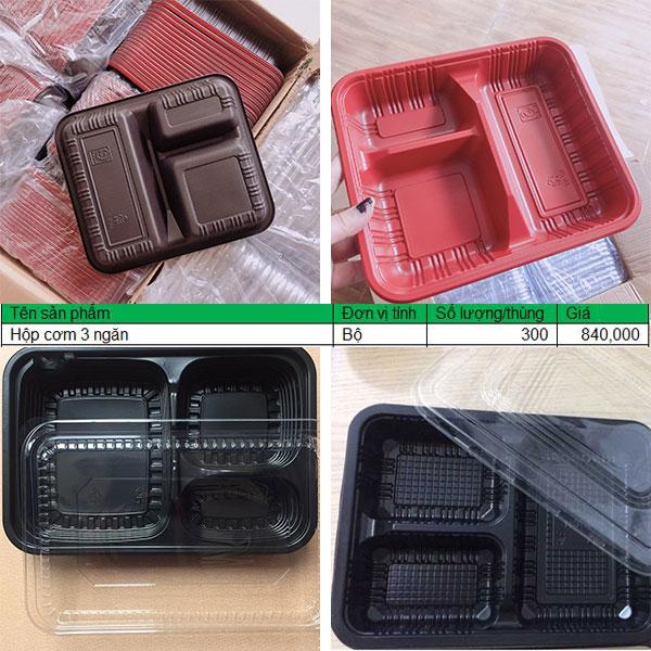 hộp 3 ngăn giá sỉ số lượng lớn