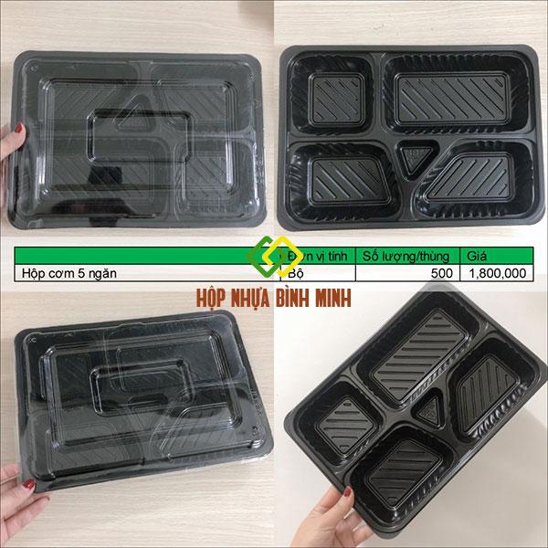 hộp cơm 5 ngăn giá sỉ hcm