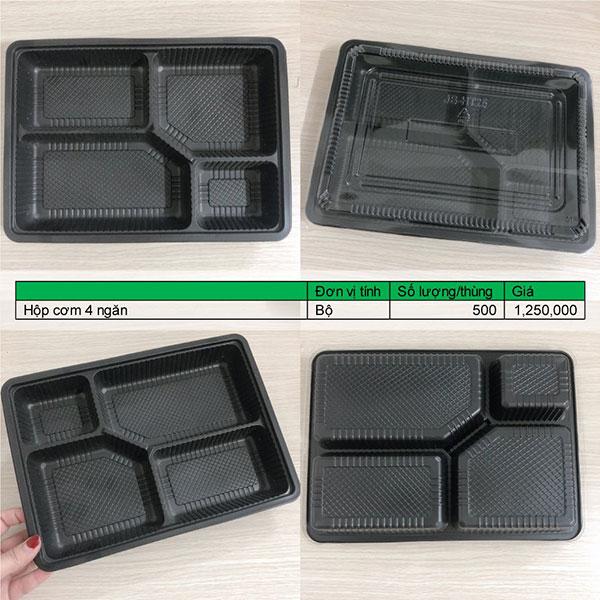 Hộp nhựa đựng cơm 4 ngăn giá sỉ số lượng lớn