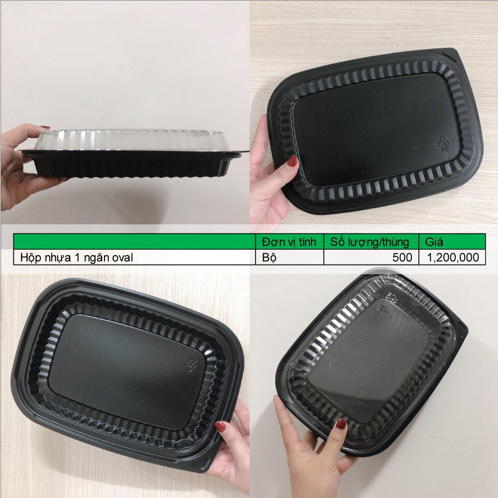 hộp nhựa 1 ngăn dài